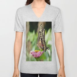 Giant Swallowtail Butterfly Unisex V-Neck