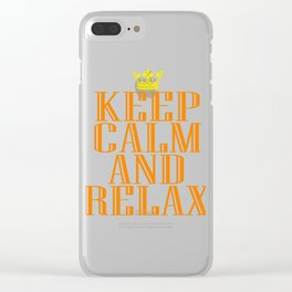 """""""Keep Calm and Relax"""" tee design perfect for your chill-out mood. Makes a nice gift for everyone too Clear iPhone Case"""