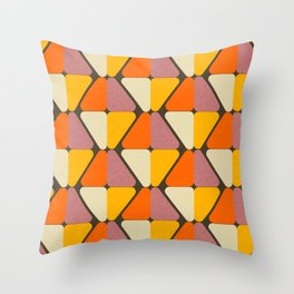 Cube Triangle Mod Yellow Throw Pillow