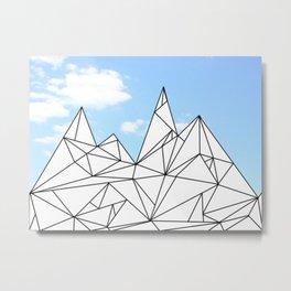 Ice Hills Metal Print