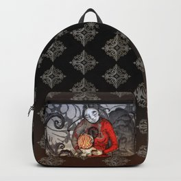 Cold feet boy warms a cold cold heart Backpack
