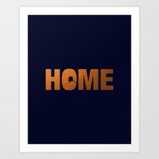 Alaska home state faux copper foil print Art Print