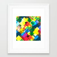 world maps Framed Art Prints featuring Maps by Tony Vazquez
