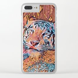 AnimalMix_Tiger_019_by_JAMColors Clear iPhone Case