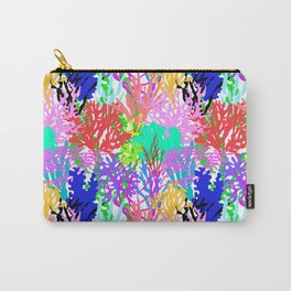 Coral Collection in Bright Multi + White Carry-All Pouch