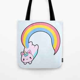Kawaii proud rainbow cattycorn Tote Bag