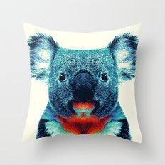 Koala - Colorful Animals Throw Pillow