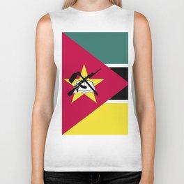 Mozambique flag emblem Biker Tank
