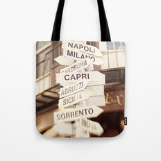 Lead me to Italy Tote Bag