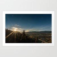 City Sunrise Art Print