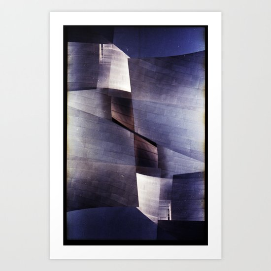 disney concert hall 2 (35mm multi exposure) Art Print