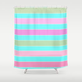 Leela 2 . turquoise Shower Curtain