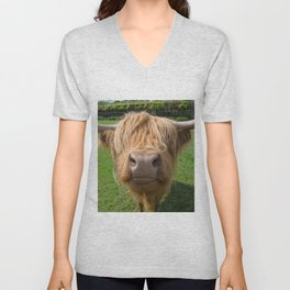 Highland cow nose Unisex V-Neck