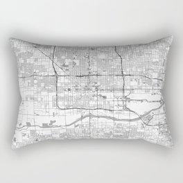 Phoenix City Map Line Rectangular Pillow