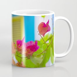 Colored Flowers in Front of Windows House Coffee Mug