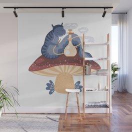 Blue caterpillar Wall Mural