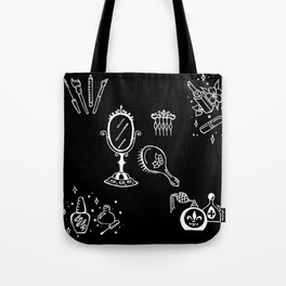 Cosmetics Themed Illustration Tote Bag