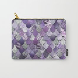 Mermaid Purple and Silver Carry-All Pouch