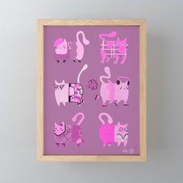 Fashion Cats - Pink Palette Framed Mini Art Print