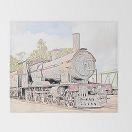 Rusting Steam Train Throw Blanket