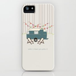 Home is where you park it iPhone Case