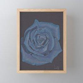 Blue Rose Framed Mini Art Print