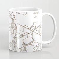 office Mugs featuring office by anil yanik