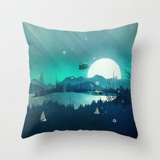 Beneath Barafundle Throw Pillow