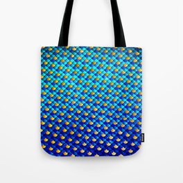 Ocean Blue Mermaid Scales -Beautiful Abstract Glitter Pattern Tote Bag
