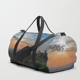 Colorful sunrise on Italian Apennine Mountains Duffle Bag