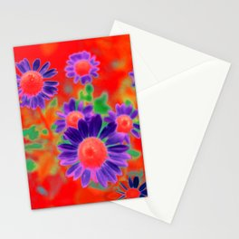 Summer Floral Red Stationery Cards
