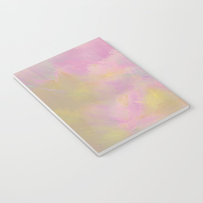Soft Pastel Feathered Abstract Notebook