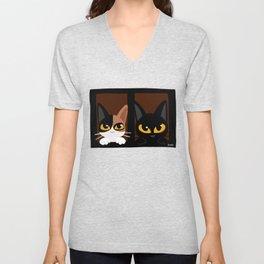 Lovely two cats Unisex V-Neck