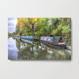 Narrow Boats Little Venice London Metal Print
