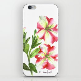Pink and White Petunias iPhone Skin