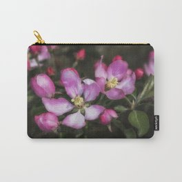 Pink Apple Blossoms Carry-All Pouch