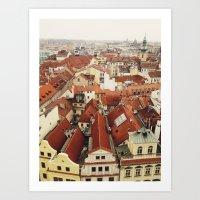prague Art Prints featuring Prague by Taylor Rae