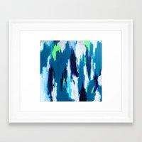 ikat Framed Art Prints featuring Ikat by kristinesarleyart