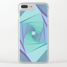 Downward Spiral Clear iPhone Case