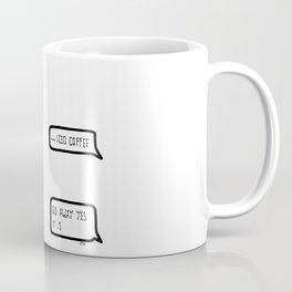 iced coffee is a meal Coffee Mug