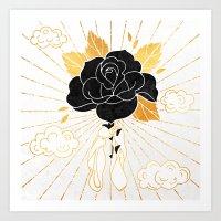 Black Rose Inktober :: Your Psyche Art Print