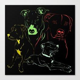 Doggy Comforter Canvas Print