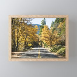 Entrance to a winery in Napa Valley California Framed Mini Art Print