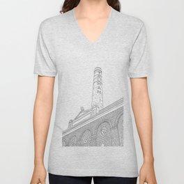 London Truman Chimney - Line Art Unisex V-Neck