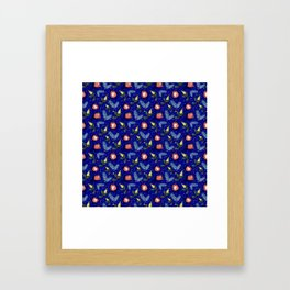 Australian Native Floral Pattern - Bright and Cute Framed Art Print