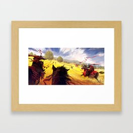 Yellow Charge Framed Art Print