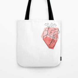 Heart Lines Tote Bag
