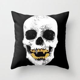 Snake Skin Skull Throw Pillow