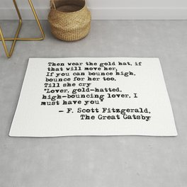 Epigraph - The Great Gatsby - Fitzgerald quote Rug