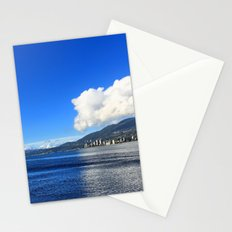 Blue vs. White Stationery Cards